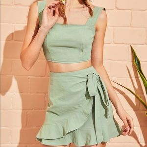SHEIN two piece wrap skirt and top